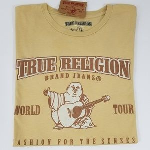 True Religion Mens T-Shirt Graphic Tee Crew New
